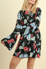 Umgee USA Floral Bell Sleeve - Front cropped