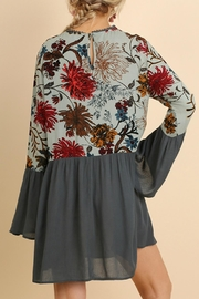 Umgee USA Floral Bell Sleeve - Back cropped