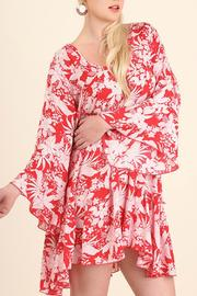 Umgee USA Floral Bell Sleeve Dress - Product Mini Image