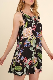 Umgee USA Floral Black Sundress - Front cropped