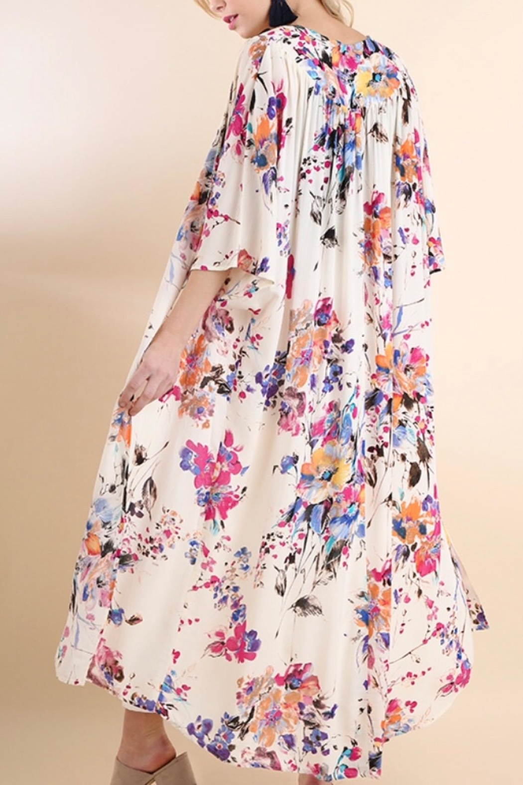Umgee USA Floral Duster - Side Cropped Image