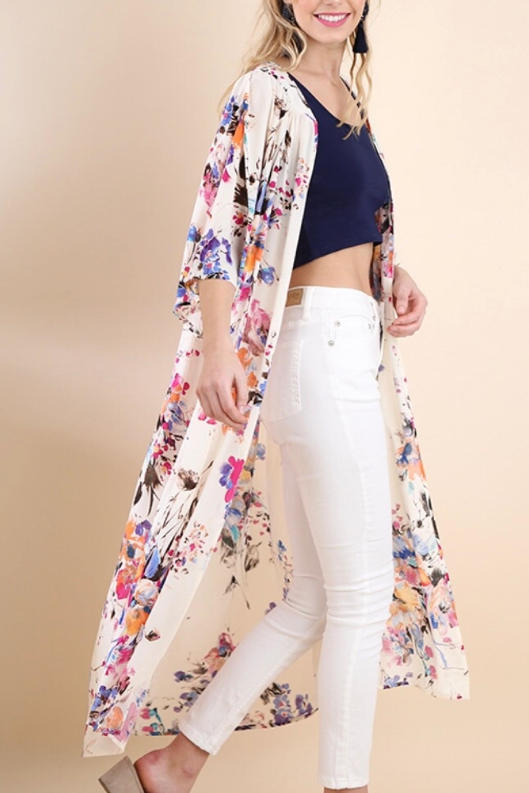Umgee USA Floral Duster - Front Full Image