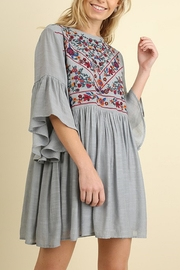 Umgee USA Floral Embroidered Dress - Front cropped
