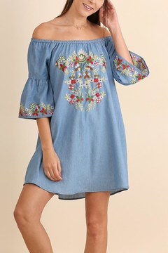 Umgee USA Floral Embroidered Dress - Product List Image