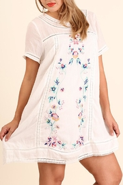 Umgee USA Floral Embroidered Dress - Product Mini Image