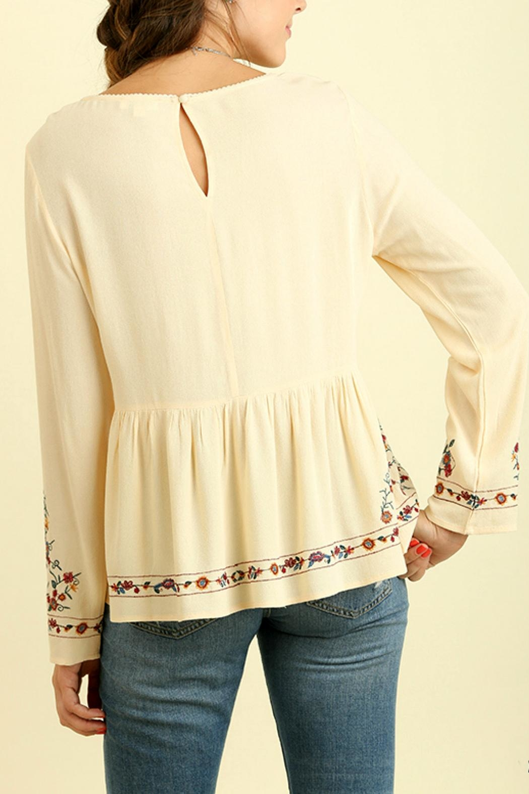 Umgee USA Floral Embroidered Top - Side Cropped Image