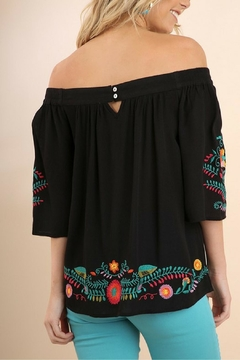 Umgee USA Floral Embroidered Top - Alternate List Image
