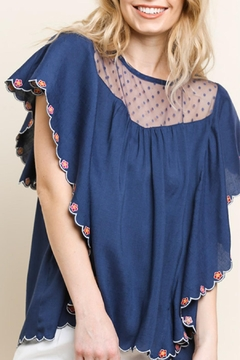 Umgee USA Floral Embroidered Top - Product List Image