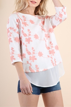 Umgee USA Floral Embroidered Tunic - Product List Image