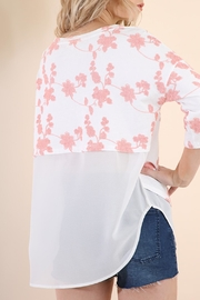 Umgee USA Floral Embroidered Tunic - Side cropped