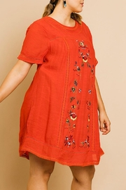 Umgee USA Floral Embroidery A-Line - Front full body