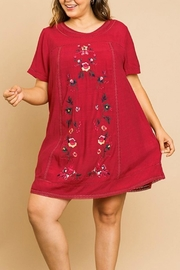 Umgee USA Floral Embroidery A-Line - Product Mini Image