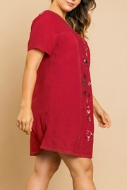 Umgee USA Floral Embroidery A-Line - Side cropped