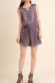 Umgee USA Floral Embroidery Romper - Product Mini Image