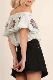 Umgee USA Floral Embroidery Top - Side cropped