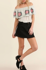 Umgee USA Floral Embroidery Top - Back cropped