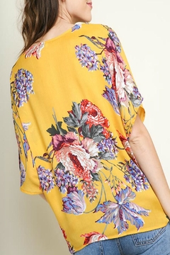 Umgee USA Floral Gathered-Knot Top - Alternate List Image