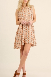 Umgee USA Floral Keyhole Dress - Front full body