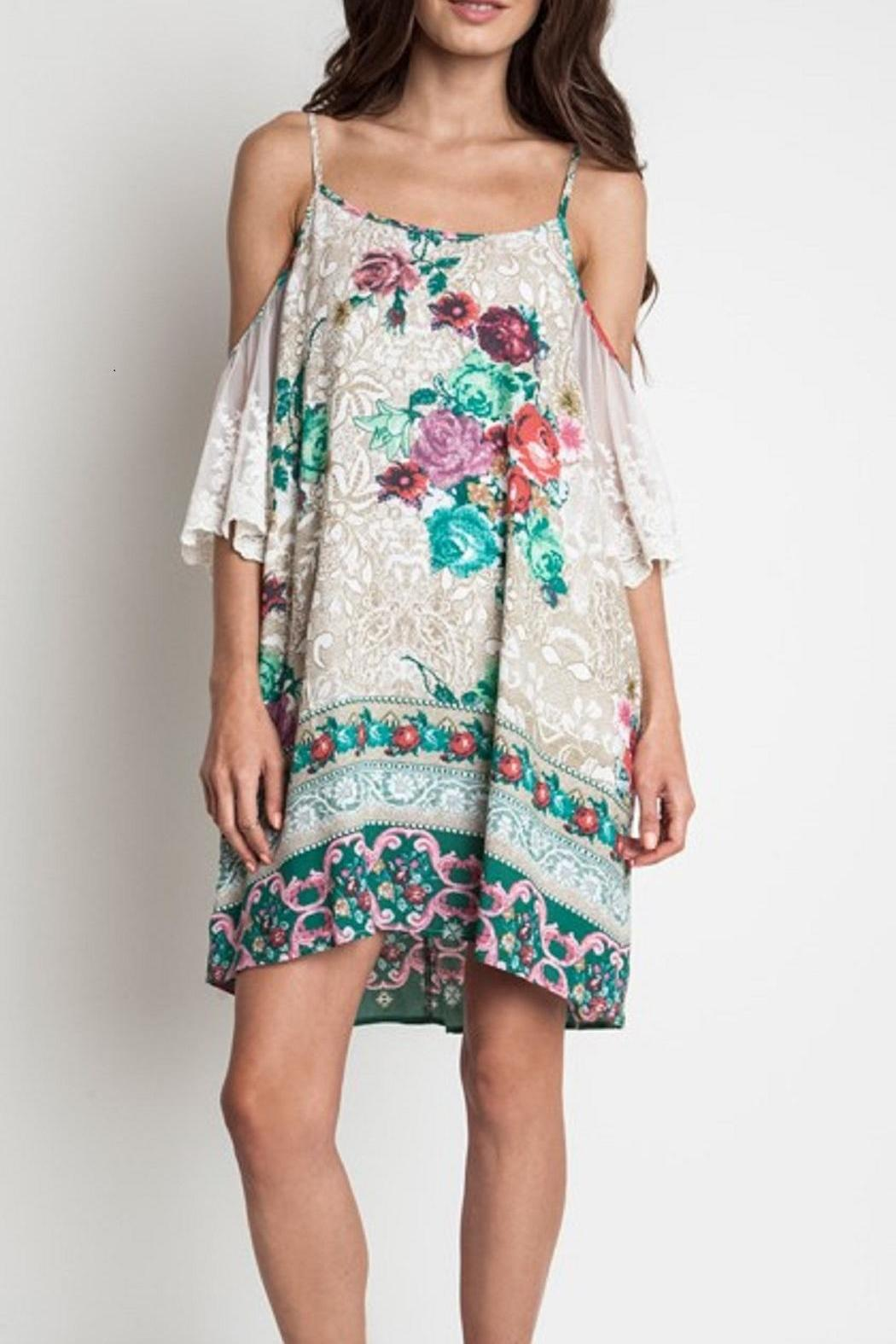 Umgee USA Floral Lace Dress - Main Image