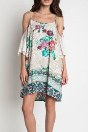 Umgee USA Floral Lace Dress - Product Mini Image