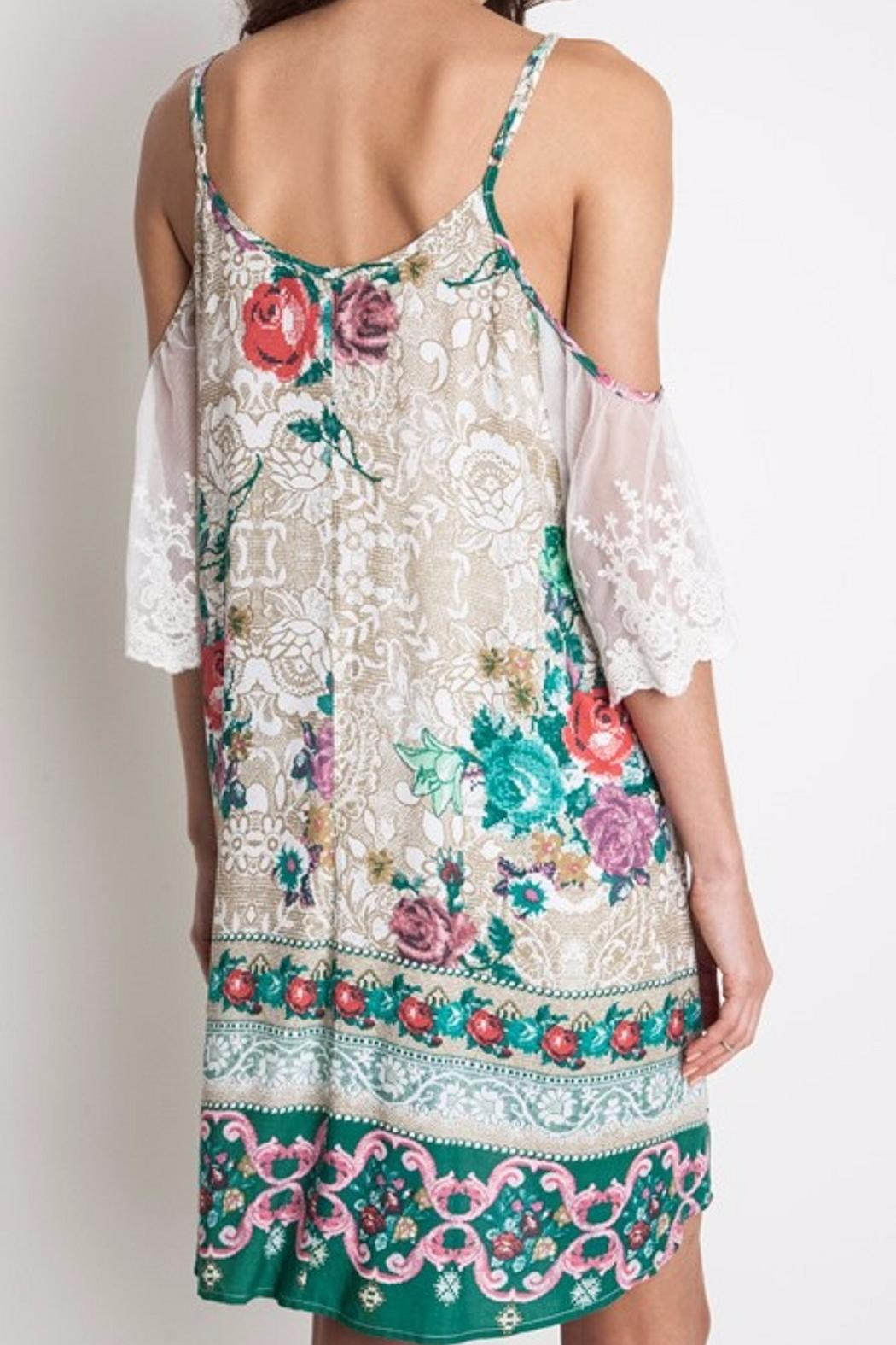 Umgee USA Floral Lace Dress - Side Cropped Image