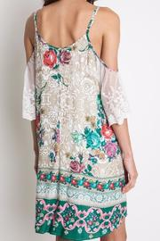 Umgee USA Floral Lace Dress - Side cropped