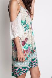 Umgee USA Floral Lace Dress - Front full body