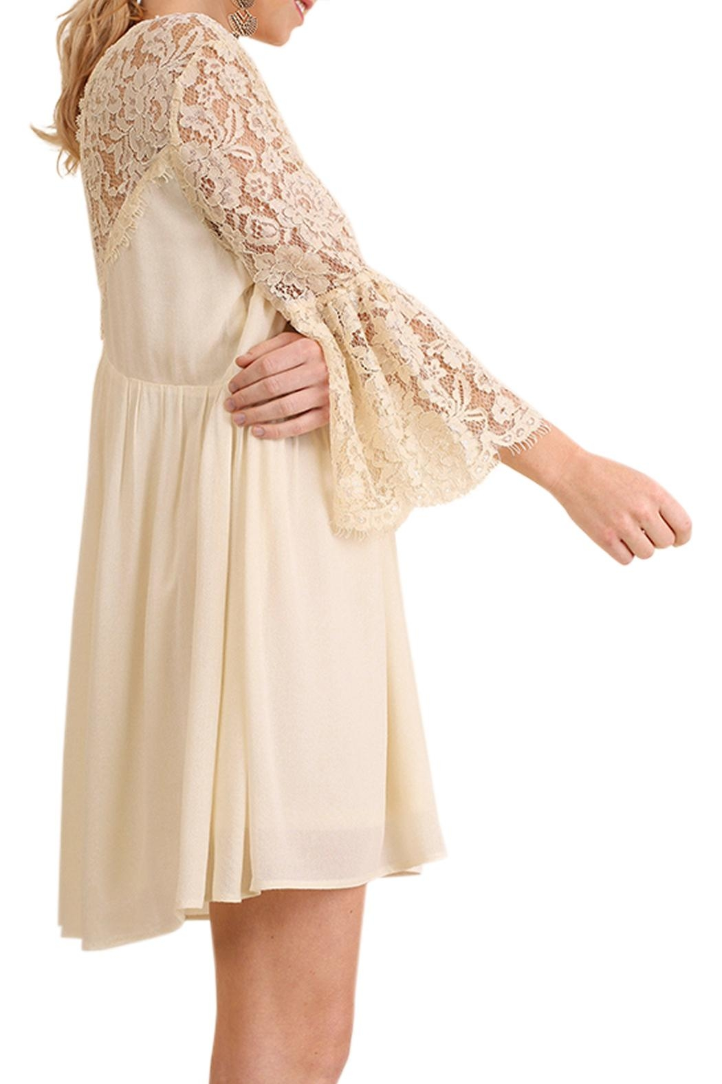 Umgee USA Floral Lace Dress - Front Full Image
