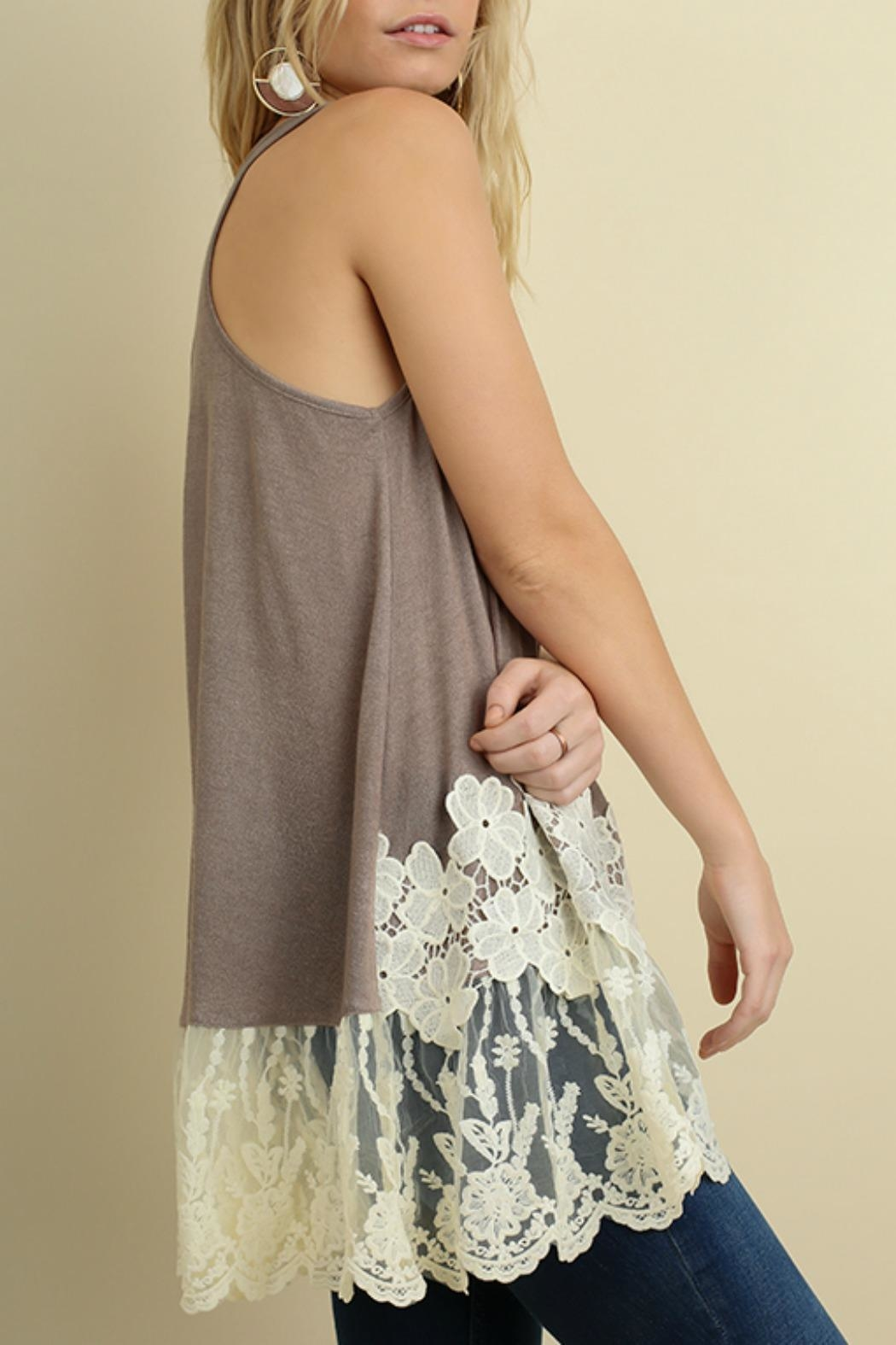 Umgee USA Floral Lace Tank - Front Full Image