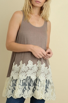 Umgee USA Floral Lace Tank - Product List Image