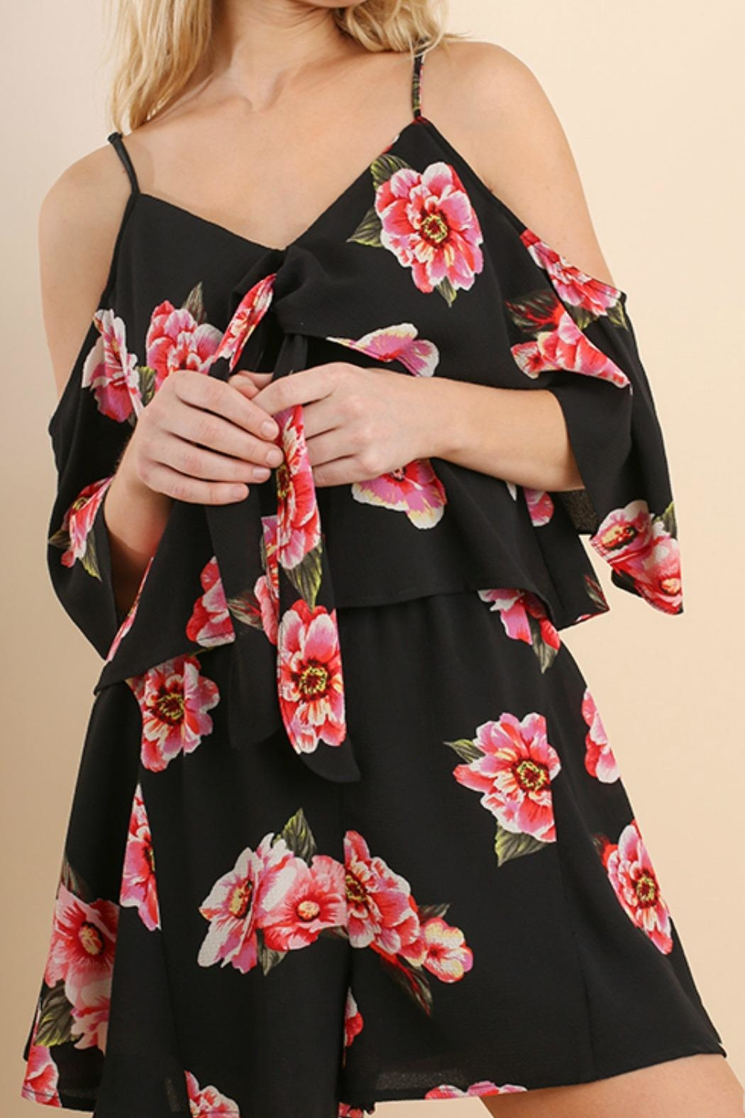 Umgee USA Floral Love Romper - Front Cropped Image