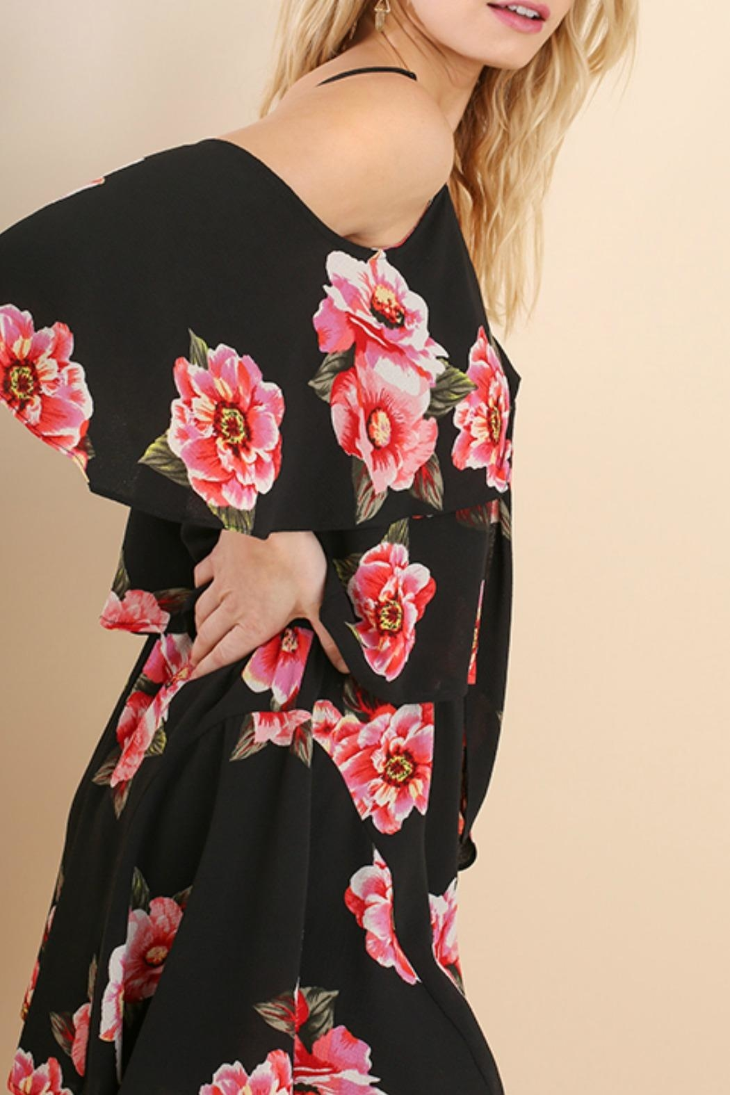 Umgee USA Floral Love Romper - Front Full Image