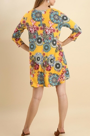 Umgee USA Floral Medallion Dress - Front full body