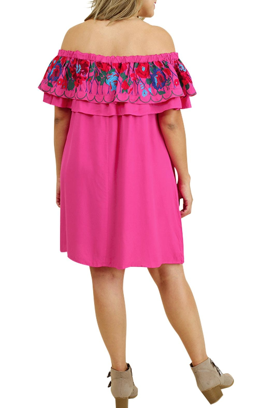 Umgee USA Floral Party Dress - Side Cropped Image