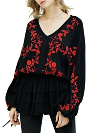 Umgee USA Floral Peasant Top - Product Mini Image