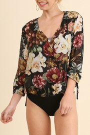 Umgee USA Floral Print Bodysuit - Product Mini Image