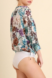 Umgee USA Floral Print Bodysuit - Side cropped