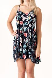 Umgee USA Floral Print Dress - Front full body