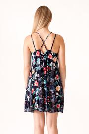 Umgee USA Floral Print Dress - Back cropped