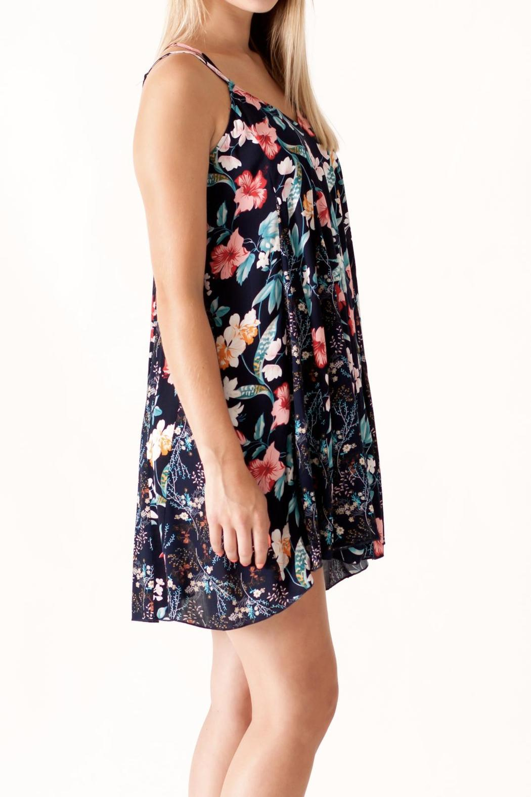 Umgee USA Floral Print Dress - Side Cropped Image