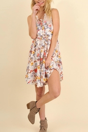 Umgee USA Floral Print Dress - Front cropped