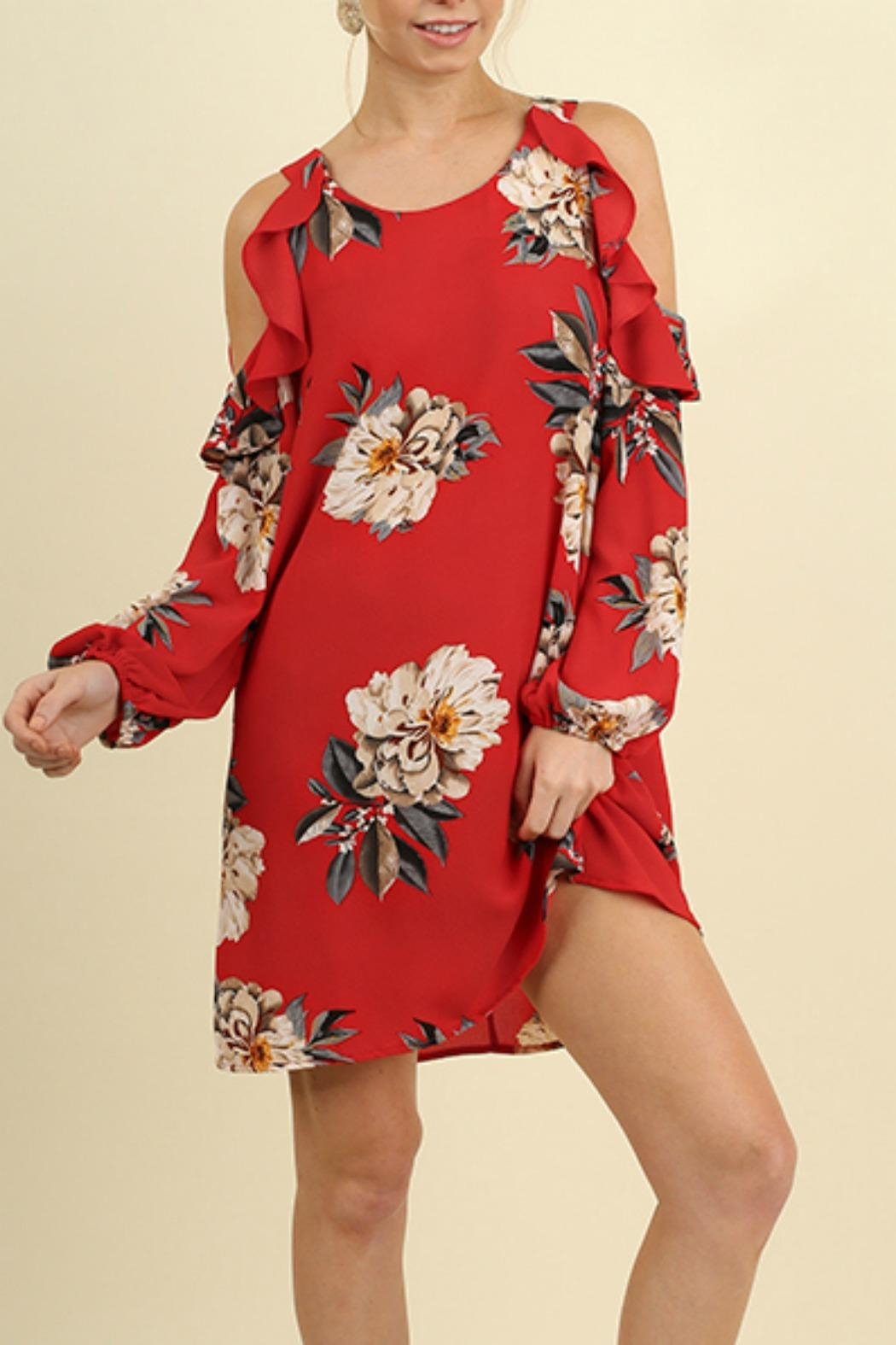 Umgee USA Floral Print Dress - Front Cropped Image