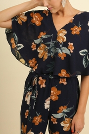 Umgee USA Floral Print Jumpsuit - Front full body