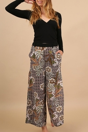 Umgee USA Floral Print Pants - Product Mini Image