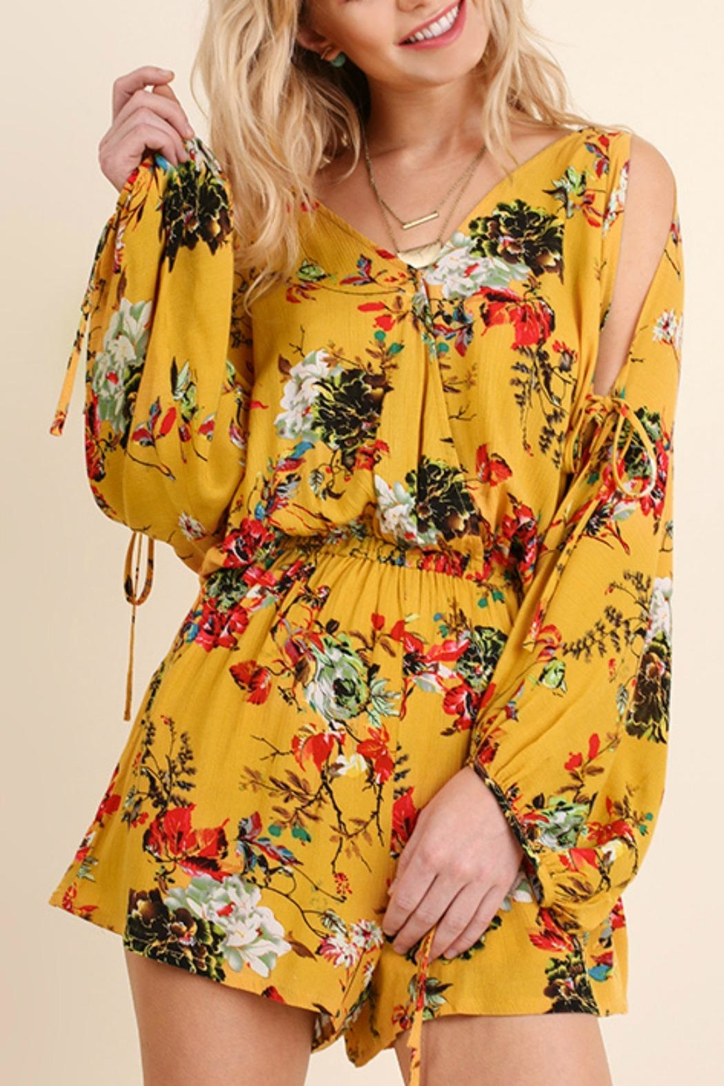 Umgee USA Floral Print Romper - Main Image