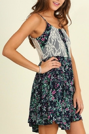 Umgee USA Floral Print Sleeveless Dress - Product Mini Image