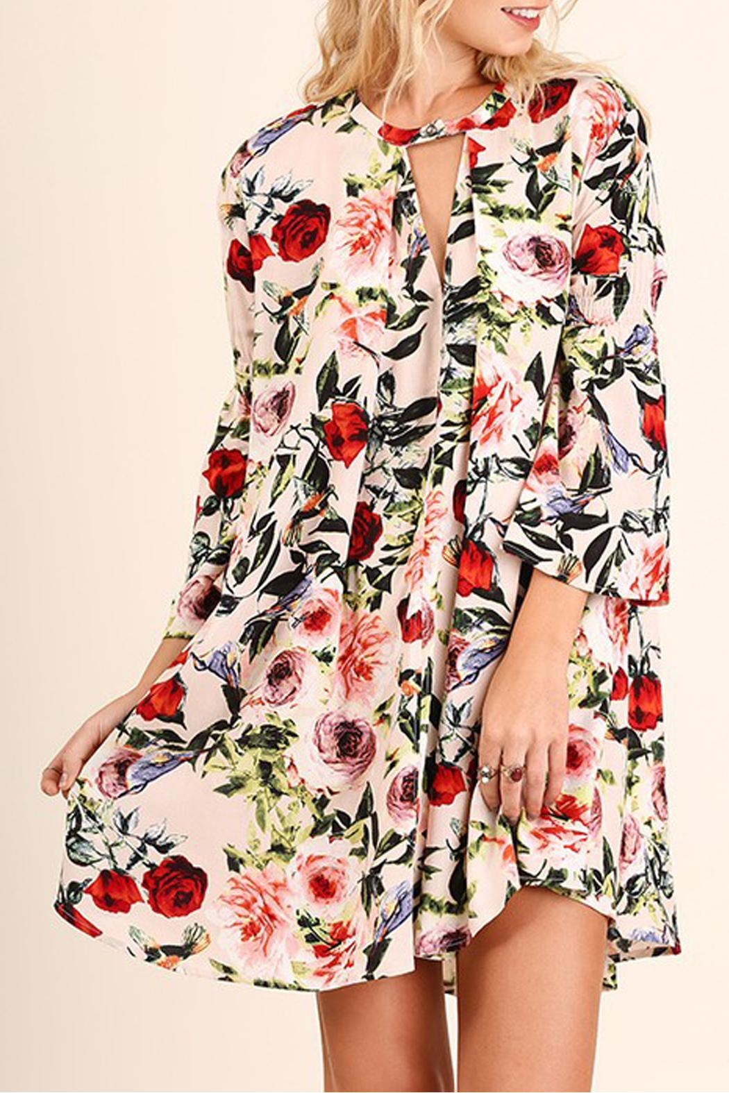 Umgee USA Floral Print Swing Dress - Main Image