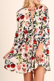 Umgee USA Floral Print Swing Dress - Front cropped