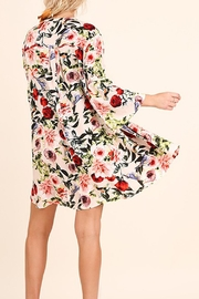 Umgee USA Floral Print Swing Dress - Side cropped