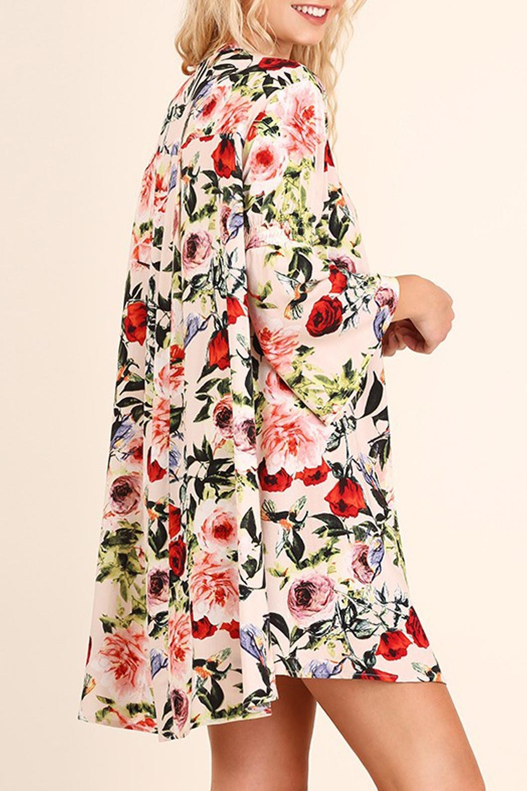 Umgee USA Floral Print Swing Dress - Front Full Image